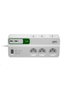 Obrázek pro APC Essential SurgeArrest 6 outlets with 5V, 2.4A 2 port USB charger, 230V France, 2m