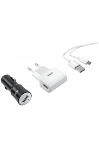 Obrázek pro ACME CH13 Kit incl. Car + Wall Charger and Micro USB Cable