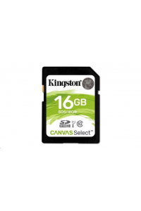 Obrázek pro Kingston 16GB SecureDigital Canvas Select (SDHC) Card, 80R Class 10 UHS-I