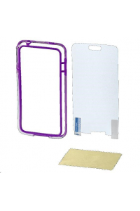 Obrázek pro Hama edge Protector Cover for Samsung Galaxy S5 mini + Screen Protector, purp.