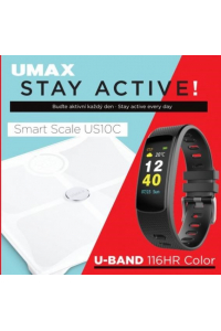 Obrázek pro UMAX Stay Active! Smart Scale US10C + U-Band 116HR