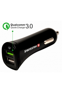 Obrázek pro Swissten CL Adapter Quick Charge 2x USB 2.4A Power + MicroUSB (1.5m)