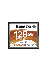 Obrázek pro Kingston 128GB CompactFlash Canvas Focus up to 150R/130W