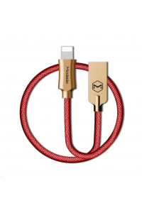 Obrázek pro Mcdodo Knight Series USB AM To Lightning Data Cable (1.8 m) Red