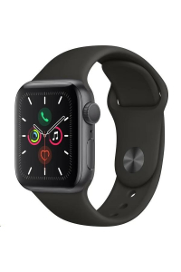 Obrázek pro Apple Watch Series 5 GPS, 40mm Space Grey Aluminium Case with Black Sport Band