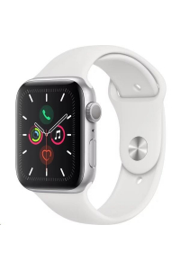 Obrázek pro Apple Watch Series 5 GPS, 44mm Silver Aluminium Case with White Sport Band - S/M & M/L/rozbaleny