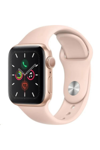Obrázek pro Apple Watch Series 5 GPS, 44mm Gold Aluminium Case with Pink Sand Sport Band - S/M & M/L