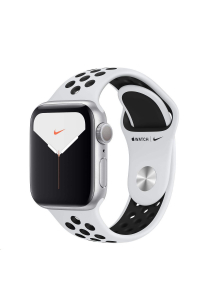 Obrázek pro Apple Watch Nike Series 5 GPS, 40mm Silver Aluminium Case with Pure Platinum/Black Nike Sport Band