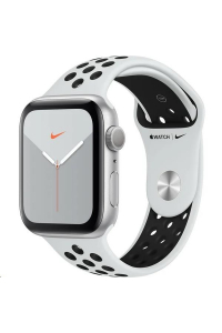 Obrázek pro Apple Watch Nike Series 5 GPS, 44mm Silver Aluminium Case with Pure Platinum/Black Nike Sport Band - S/M & M/L