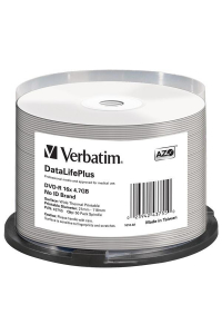 Obrázek pro VERBATIM DVD-R(50-Pack)/Spindle/16X/4.7GB/DataLife Plus Wide Thermal Professional  No ID Brand