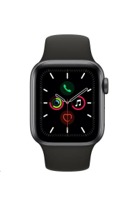 Obrázek pro Apple Watch Series 5 GPS, 44mm Space Grey Aluminium Case with Black Sport Band - S/M & M/L