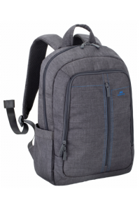 Obrázek pro Rivacase 7560 Backpack 15,6 Grey Canvas Material