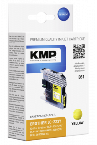 Obrázek pro KMP B51 ink cartridge yellow compatible with Brother LC-223 Y