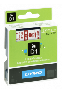 Obrázek pro Dymo D1 12mm Red/White labels 45015
